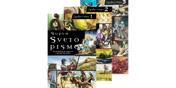 Super Sveto pismo - Knjige v stripu - komplet 3 knjig