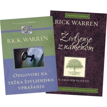 Rick Warren komplet - Življenje z namenom in Odgovori na težka življenjska vprašanja