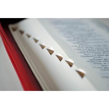 """Sveto pismo – Žepni format z zadrgo, v rdeči barvi, """"Nazaret"""""""
